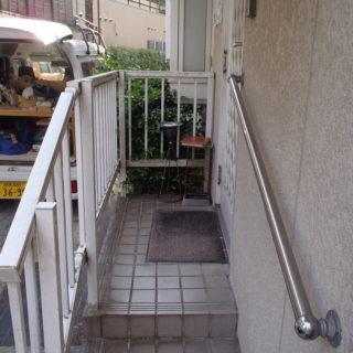 玄関手摺フェンス交換工事 / 箱根町